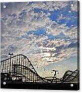 Great White Roller Coaster - Adventure Pier Wildwood Nj At Sunrise Acrylic Print