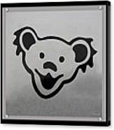 Greatful Dead Dancing Bear In Black And White Acrylic Print
