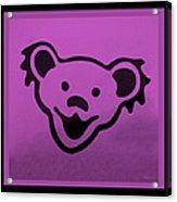 Greatful Dead Dancing Bear In Pink Acrylic Print