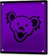 Greatful Dead Dancing Bear In Purple Acrylic Print