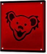 Greatful Dead Dancing Bear In Red Acrylic Print