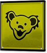 Greatful Dead Dancing Bear In Yellow Acrylic Print