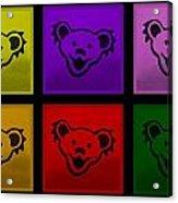 Greatful Dead Dancing Bears In Multi Colors Acrylic Print