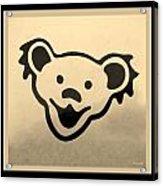 Greatful Dead Dancing Bears In Sepia Acrylic Print