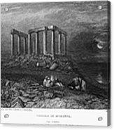 Greece: Cape Sounion, 1832 Acrylic Print