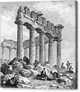 Greece: The Parthenon 1833 Acrylic Print by Granger