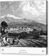 Greece: Yanina, 1833 Acrylic Print by Granger