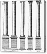 Greek And Roman Columns Acrylic Print