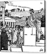 Greek Assembly Acrylic Print
