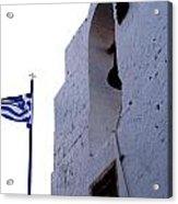 Greek Flag Flying Acrylic Print