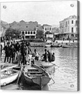 Greek Immigrants Fleeing Patras Greece - America Bound - C 1910 Acrylic Print