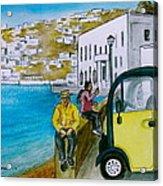 Greek Island Of Mykonis Acrylic Print
