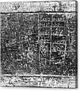 Greek Multiplication Table Acrylic Print