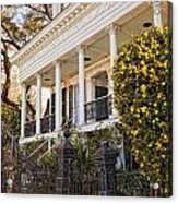 Greek Revival And The Tiny Pink Shoe - Garden District New Orleans Acrylic Print