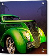 Green 37 Ford Hot Rod Decked Out For A Tropical Saint Patrick Day In South Texas Acrylic Print