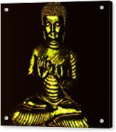 Green And Gold Buddha Acrylic Print