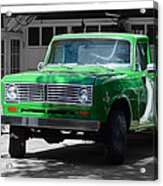 Green And Gray Acrylic Print