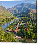 Green And Mountainous Panorama In Nothern Thailand Acrylic Print