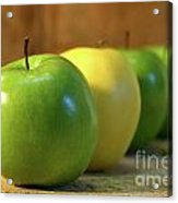 Green And Yellow Apples Acrylic Print