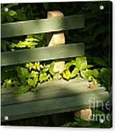 Green Bench Acrylic Print