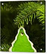 Green Branches Of A Christmas Tree Acrylic Print