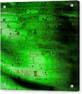 Green Brick Wall Acrylic Print