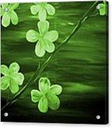 Green Cherry Blossom Acrylic Print