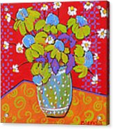 Green Daisy Bouquet Acrylic Print