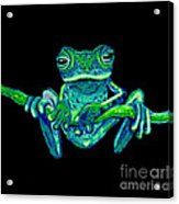 Green Ghost Frog Acrylic Print