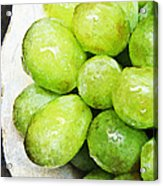 Green Grapes On A Plate Acrylic Print