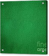 Green Grunge Textile Acrylic Print
