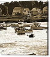 Green Harbor At Low Tide Acrylic Print