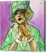 Green Hat Acrylic Print