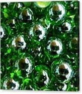 Green Marbles Acrylic Print