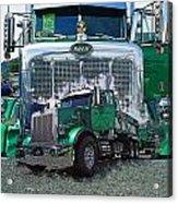 Green Peterbilt Dbl. Exposure Acrylic Print