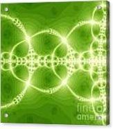 Green Reflection Acrylic Print