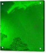 Green Sky River Acrylic Print