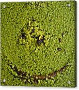 Green Smile Acrylic Print