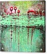 Green Splashes Acrylic Print