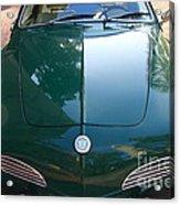 Green Volkswagon Karmann Ghia . 7d10088 Acrylic Print
