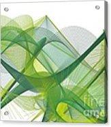 Green Waves Acrylic Print