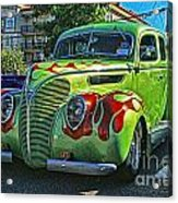 Green With Flames Hdr Acrylic Print