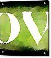 Green With Love Acrylic Print