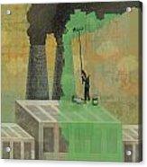 Greenwashing Acrylic Print