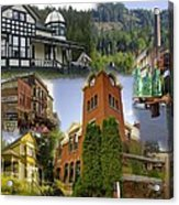 Greenwood Collage With Geppetto Acrylic Print