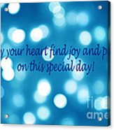 Greeting Card Blue With White Lights Acrylic Print