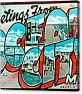 Greetings From Oc Acrylic Print by Skip Willits