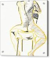 Greg-life Drawing Male Nude Acrylic Print
