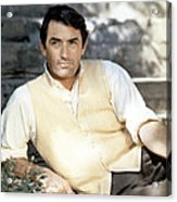 Gregory Peck, Ca. Late 1950s Acrylic Print