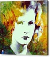 Greta Garbo Abstract Pop Art Acrylic Print